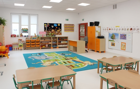 Przedszkole Publiczne nr 1 w Górkach Małych - sala (kliknięcie spowoduje powiększenie obrazu)