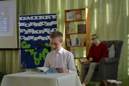 """Gminny konkurs pięknego czytania """"Czytomania"""" (kliknięcie spowoduje powiększenie obrazu)"""