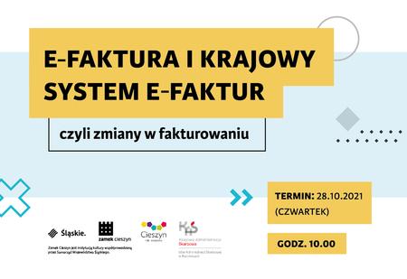 Banner dot. spotkania w sprawie e-faktury i krajowego systemu e-faktur (kliknięcie spowoduje powiększenie obrazu)
