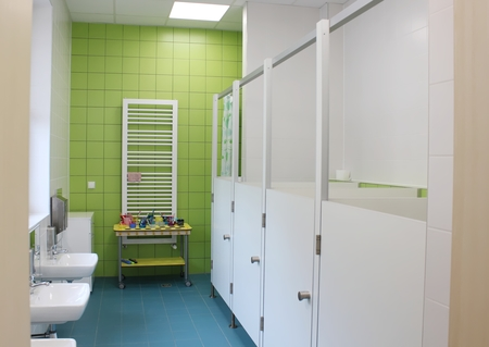 Przedszkole Publiczne nr 1 w Górkach Małych - łazienka (kliknięcie spowoduje powiększenie obrazu)