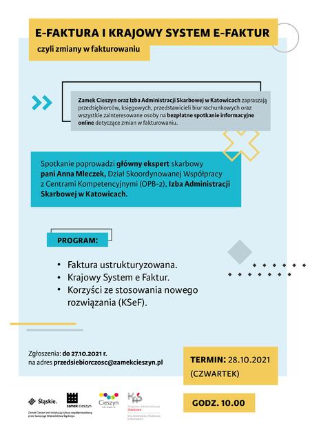 Informacja dot. spotkania w sprawie e-faktury i krajowego systemu e-faktur (kliknięcie spowoduje powiększenie obrazu)
