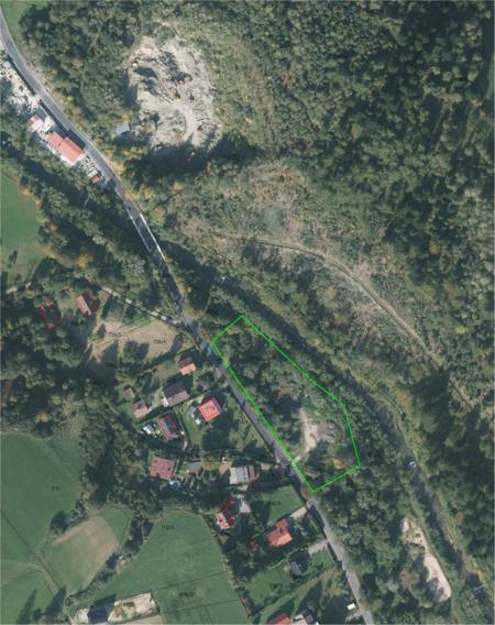 Mapa z lokalizacją działki na sprzedaż - zdjęcie satelitarne (kliknięcie spowoduje powiększenie obrazu)
