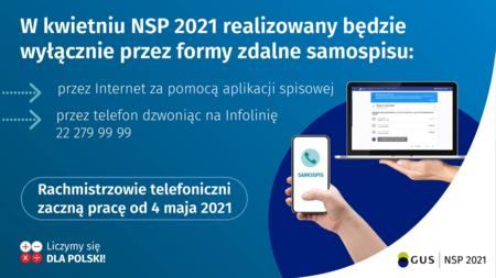Informacja o metodach spisu w  miesiącu kwietniu 2021 (internet, telefon) (kliknięcie spowoduje powiększenie obrazu)